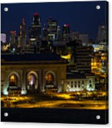 Union Station At Night Acrylic Print