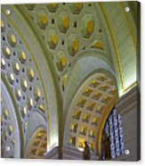 Union Station Ceiling Acrylic Print