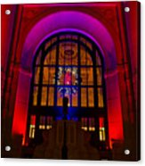 Union Station Decked Out For The Holidays Acrylic Print