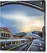 Union Station Denver - Slow Sunset Acrylic Print
