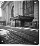Union Station Kansas City In The Snow Acrylic Print