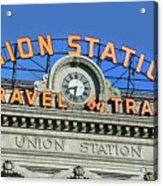 Union Station Sign Acrylic Print