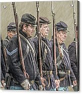 Union Veteran Soldiers Parade  Acrylic Print