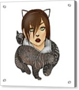 Unique Female Cats Acrylic Print
