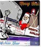 Unique Greets Original Holiday Greeting Card  Acrylic Print