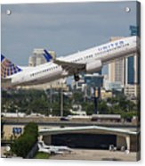 United Airlines Acrylic Print