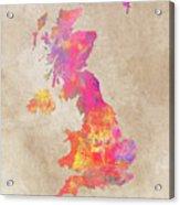 United Kingdom Map Acrylic Print