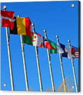 United We Stand Flags Art Acrylic Print