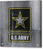 United States Army Logo On Steel Acrylic Print