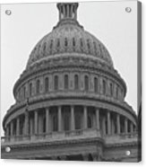 United States Capitol Building 3 Bw Acrylic Print