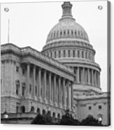United States Capitol Building 4 Bw Acrylic Print