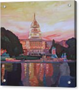 United States Capitol In Washington D.c. At Sunset Acrylic Print