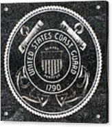 United States Coast Guard Emblem Polished Granite Acrylic Print