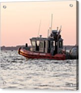 United States Coast Guard Heading Out Acrylic Print