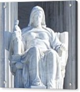 United States Supreme Court, The Contemplation Of Justice Statue, Washington, Dc 2 Acrylic Print