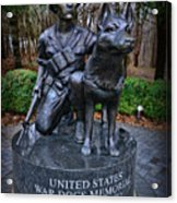 United States War Dog Memorial Acrylic Print