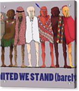 United We Stand Transparent Background Acrylic Print