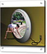 Universal Portal - Use Red-cyan 3d Glasses Acrylic Print