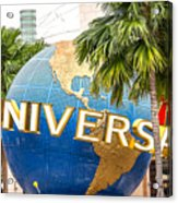 Universal Studio Globe Acrylic Print