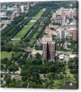 University Of Chicago Booth School Of Business And Midway Plaisance Park Aerial Photo Acrylic Print