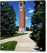University Of Northern Iowa Bell Tower Acrylic Print