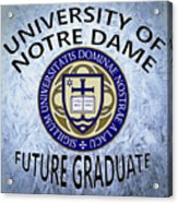 University Of Notre Dame Future Graduate Acrylic Print