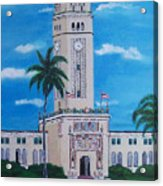 University Of Puerto Rico Tower Acrylic Print
