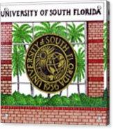 University Of South Florida Acrylic Print by Frederic Kohli
