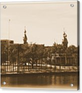 University Of Tampa - Old Postcard Framing Acrylic Print