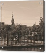 University Of Tampa With Old World Framing Acrylic Print