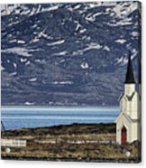 Unjarga-nesseby Church In Arctic Norway Acrylic Print