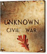 Unknown Civil War Acrylic Print