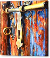 Unlocked Acrylic Print by Denise H Cooperman