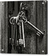 Unlocked - Keys And Opened Door Acrylic Print