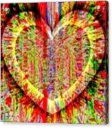 Unsettled Heart Acrylic Print by Fania Simon