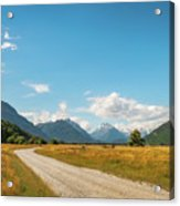 Unspoiled Alpine Scenery From Kinloch-glenorchy Road, Nz Acrylic Print