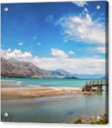 Unspoiled Alpine Scenery In Kinloch Wharf, New Zealand Acrylic Print