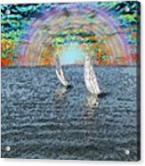 Unto The Sunset We Sail My Love Acrylic Print