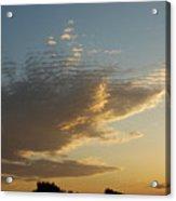 Unusual Cloud At Sunset Acrylic Print