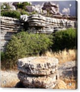 Unusual Rock Formations In The El Torcal Mountains Near Antequera Spain Acrylic Print