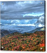 Up In The Clouds Blue Ridge Parkway Mountain Art Acrylic Print