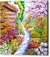 Up The Garden Path Acrylic Print by Debbie  Diamond
