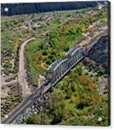 Up Tracks Cross The Mojave River Acrylic Print