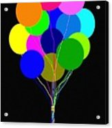 Upbeat Balloons Acrylic Print