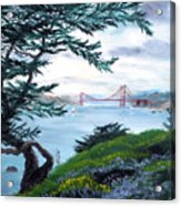 Upon Seeing The Golden Gate Acrylic Print