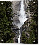 Upper And Lower Yosemite Falls Acrylic Print