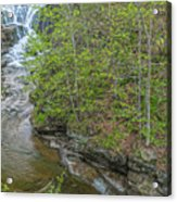 Upper And Middle Falls At Mine Kill State Park Acrylic Print