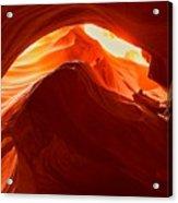 Upper Antelope Sunlit Layers Acrylic Print