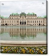 Upper Belvedere And Its Reflection  Acrylic Print