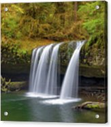 Upper Butte Creek Falls In Autumn Acrylic Print
